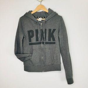 PINK Victoria's Secret logo zip hoodie jacket